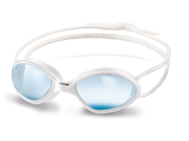 Head Tiger Race Mid Okulary pływackie, white-blue